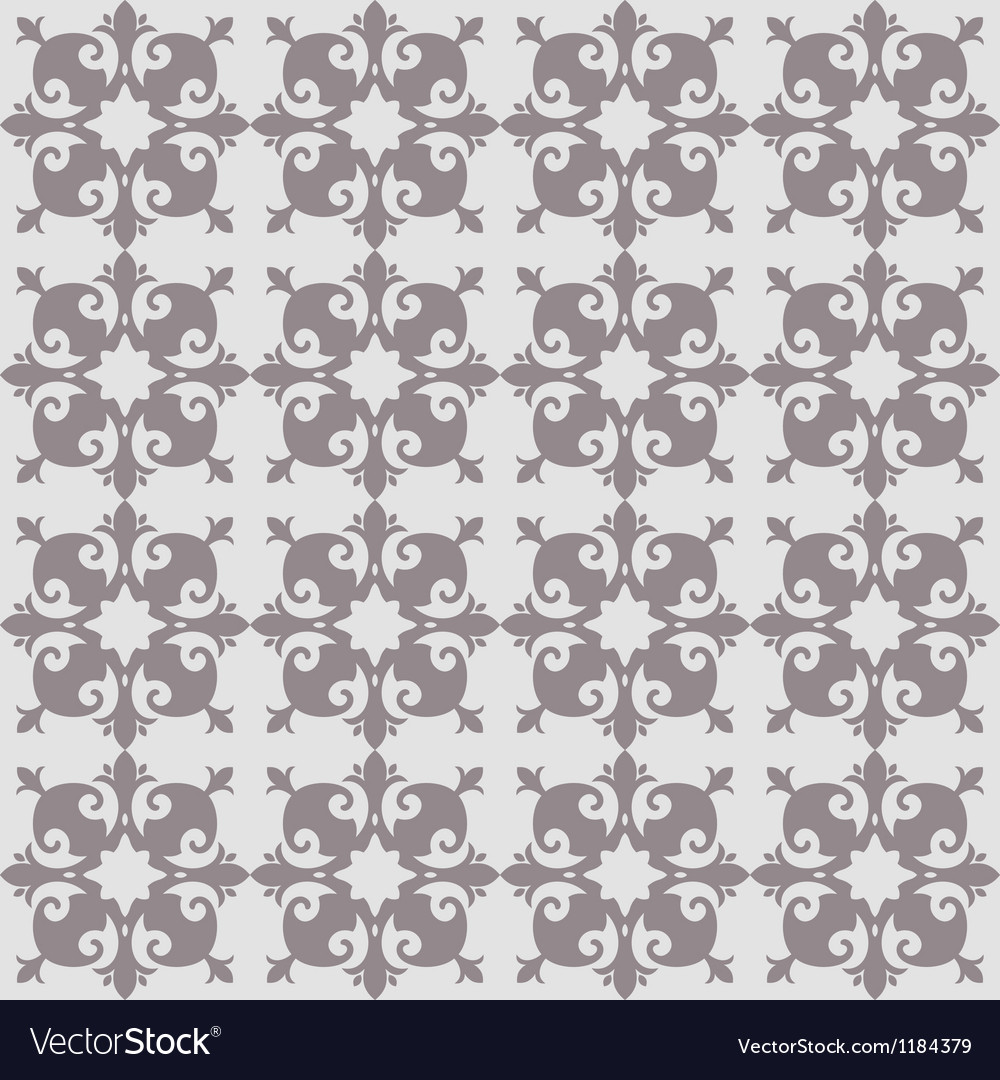 Antique floral pattern vector