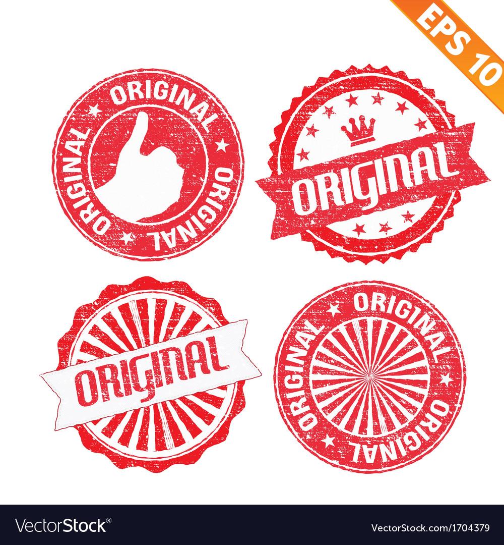 Stamp sticker original collection - - eps10 vector