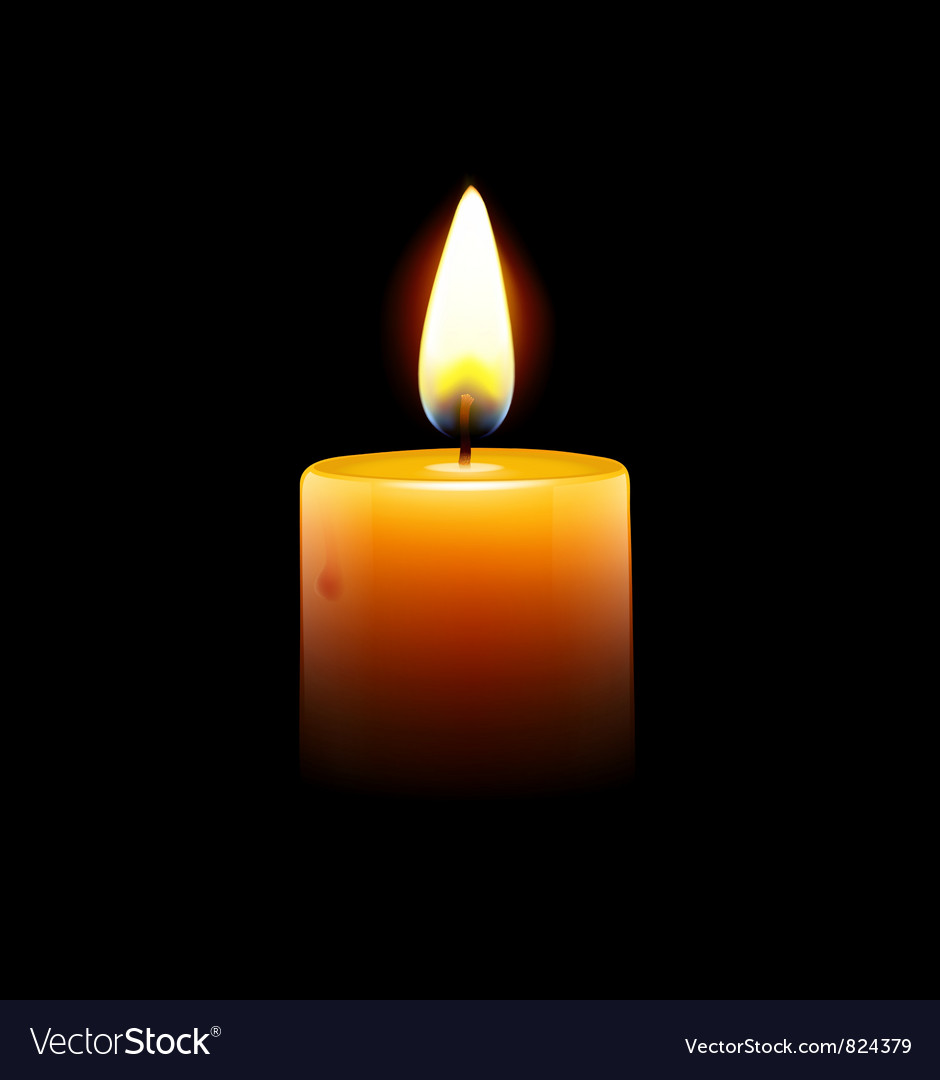 Yellow candle vector