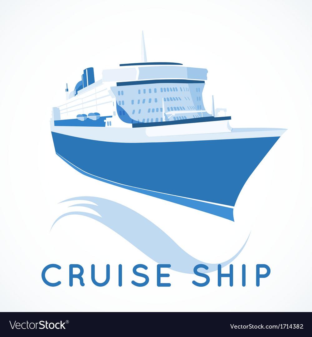 Cruise ship label vector