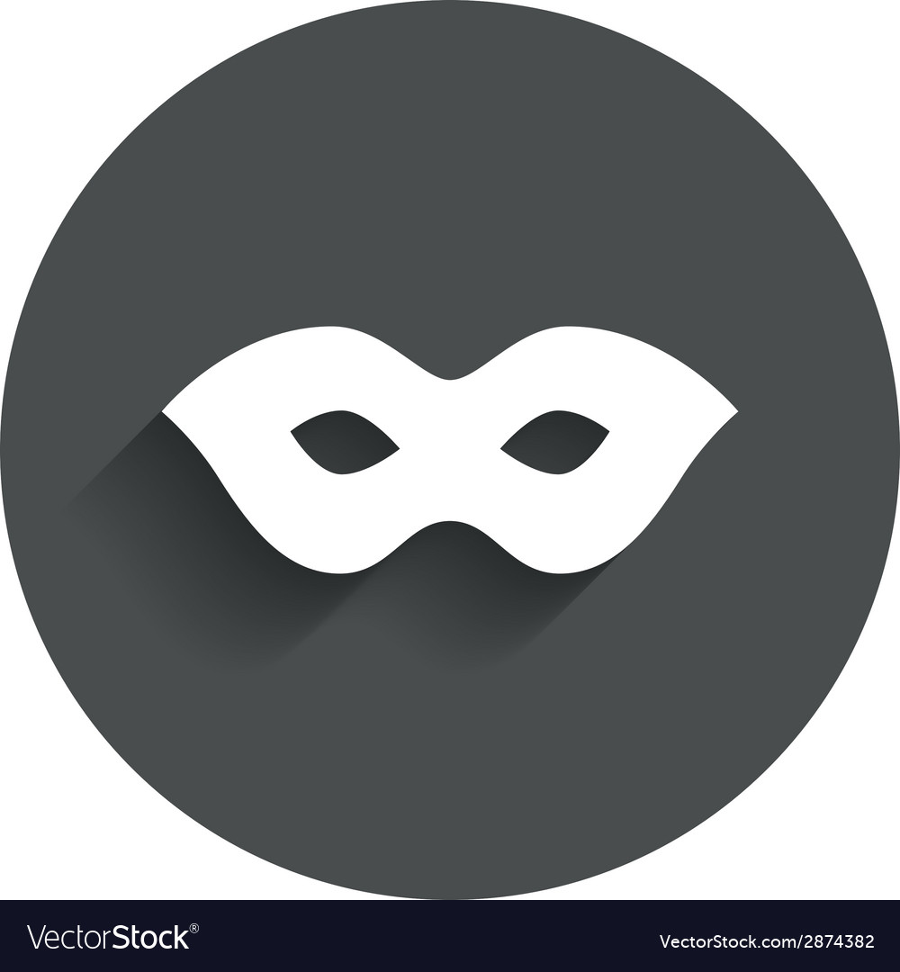 Mask sign icon anonymous spy access symbol vector