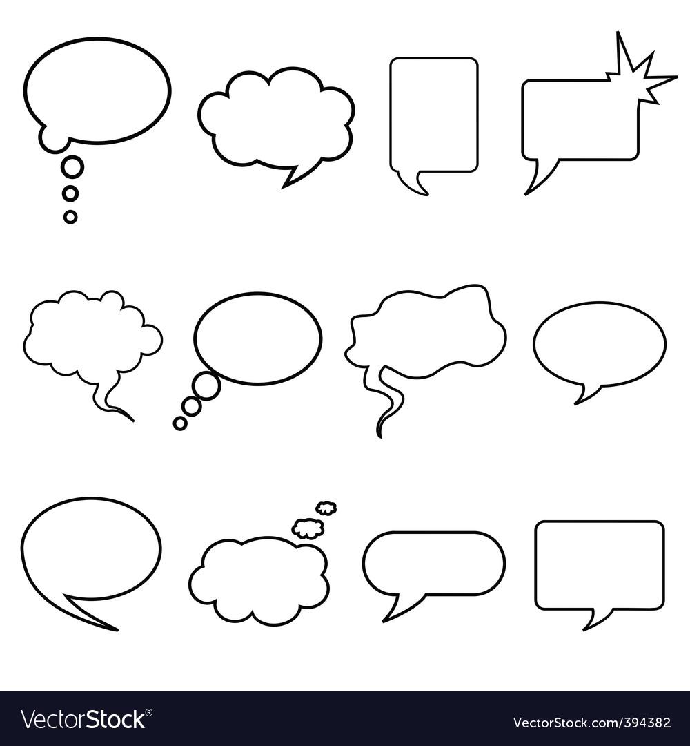 Talking bubble vector