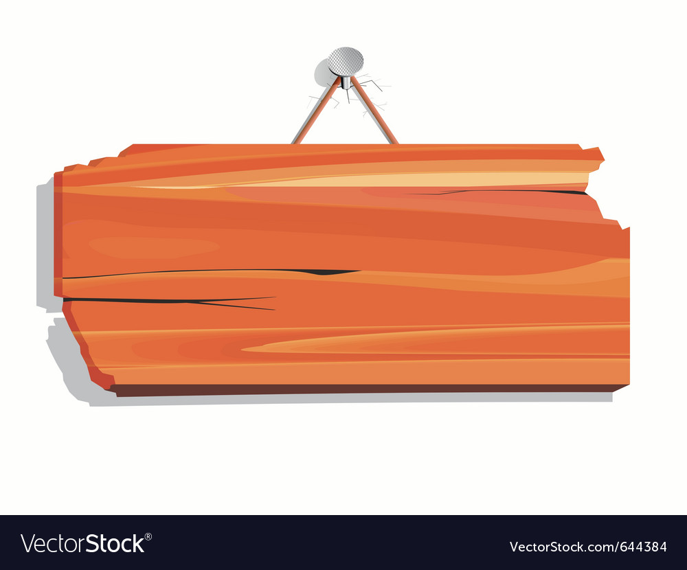 Blank wood board vector