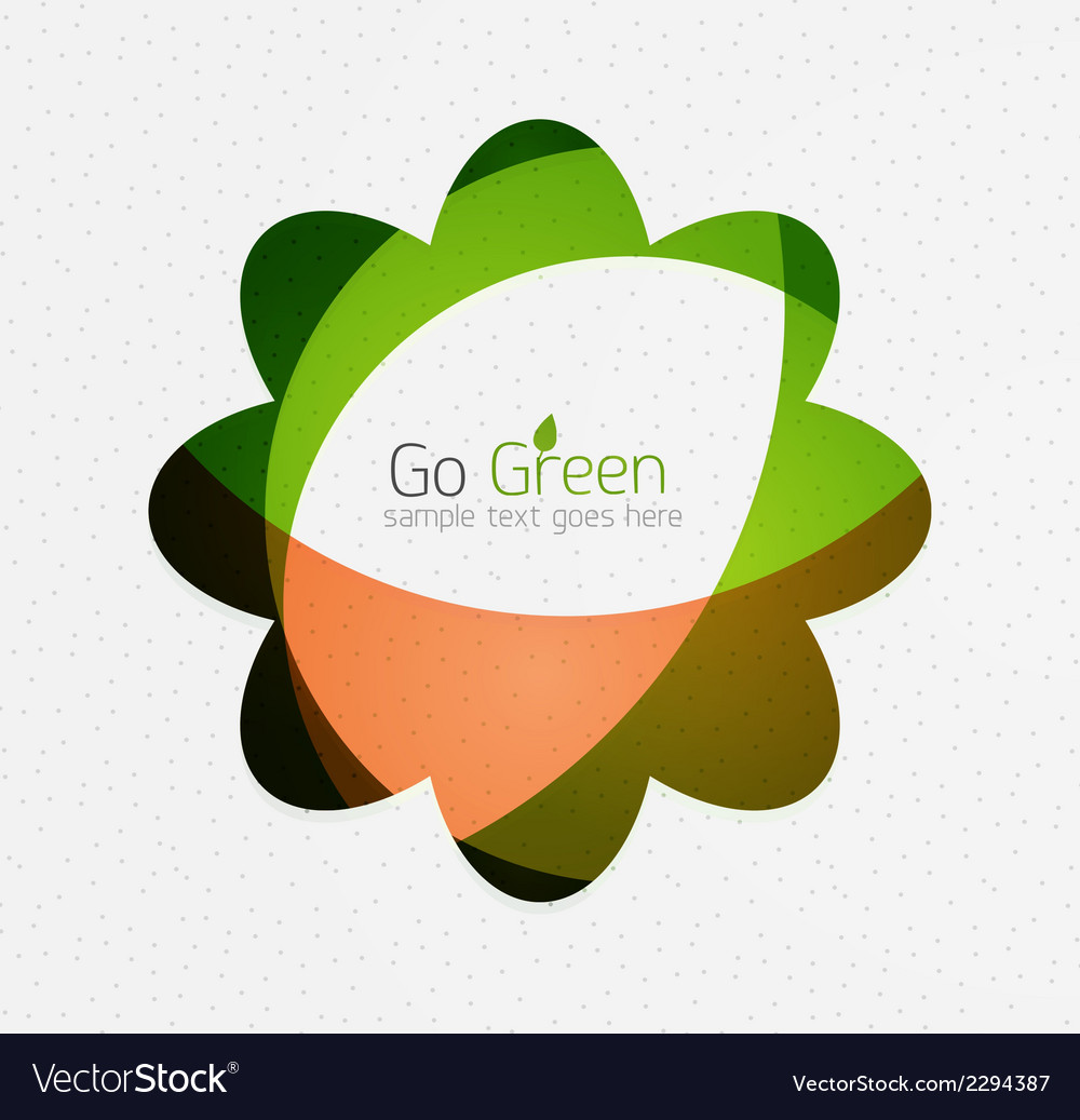 Green eco unusual background concept - flowers vector