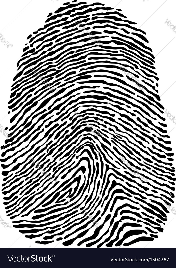 People fingerprint vector