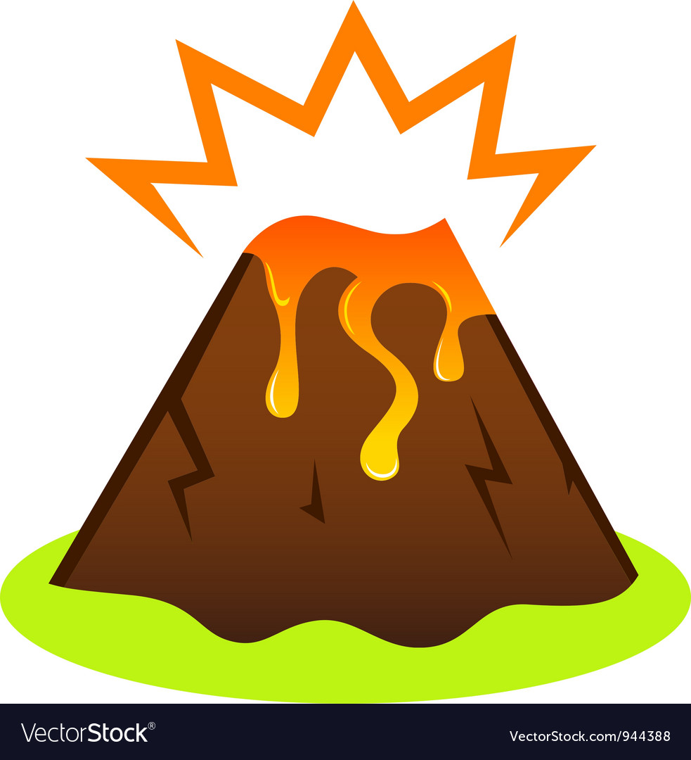 Explosing volcano vector