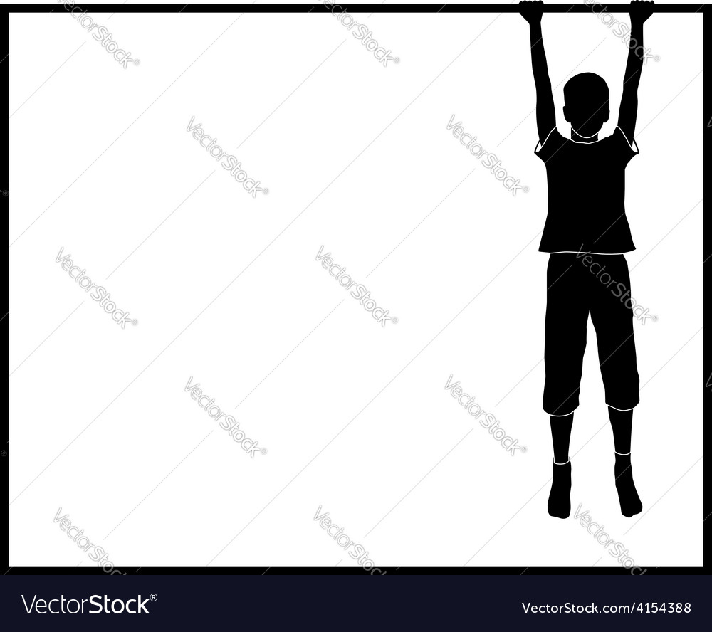 Hanging boy vector