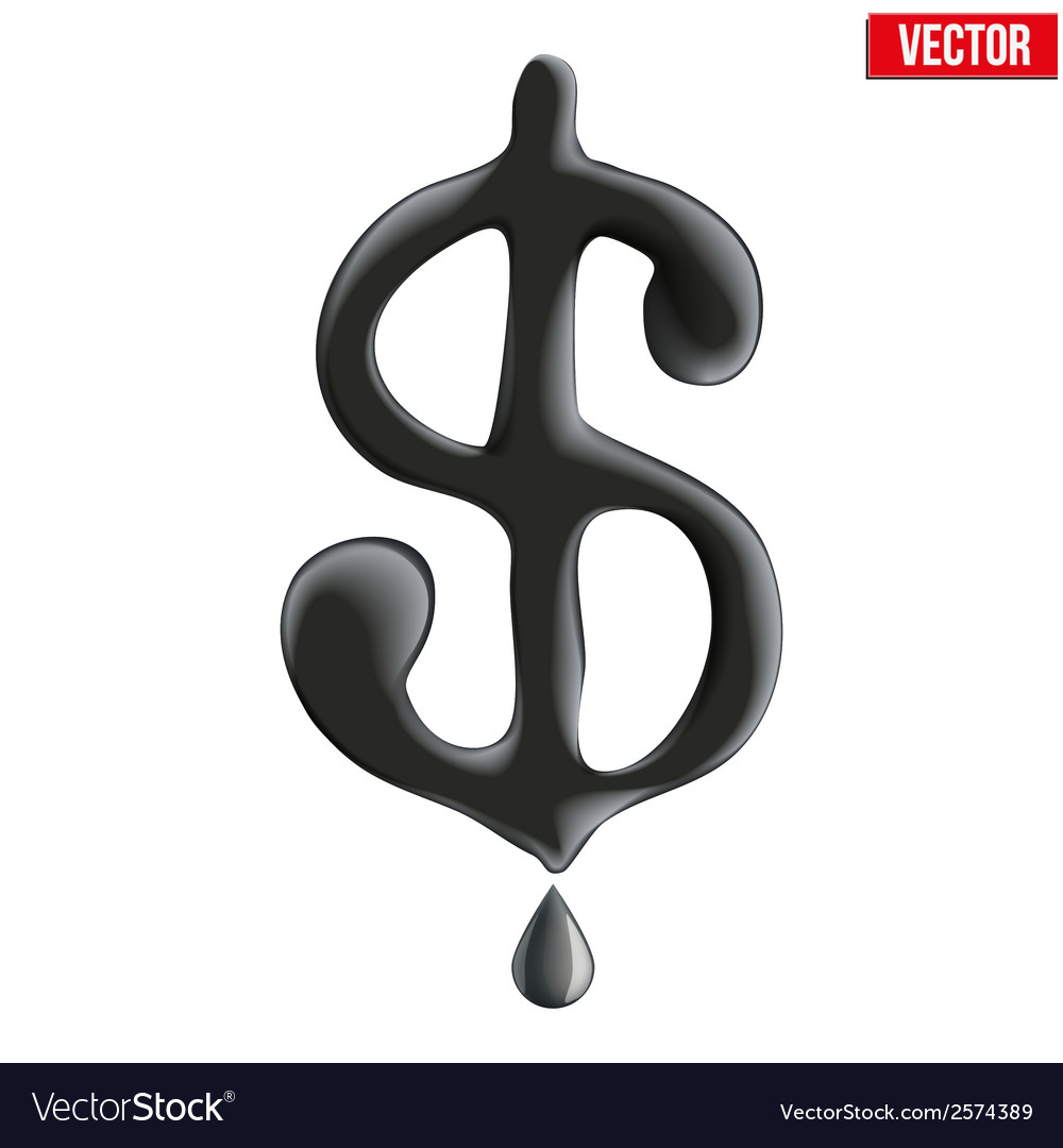 Currency dollar in oil texture vector