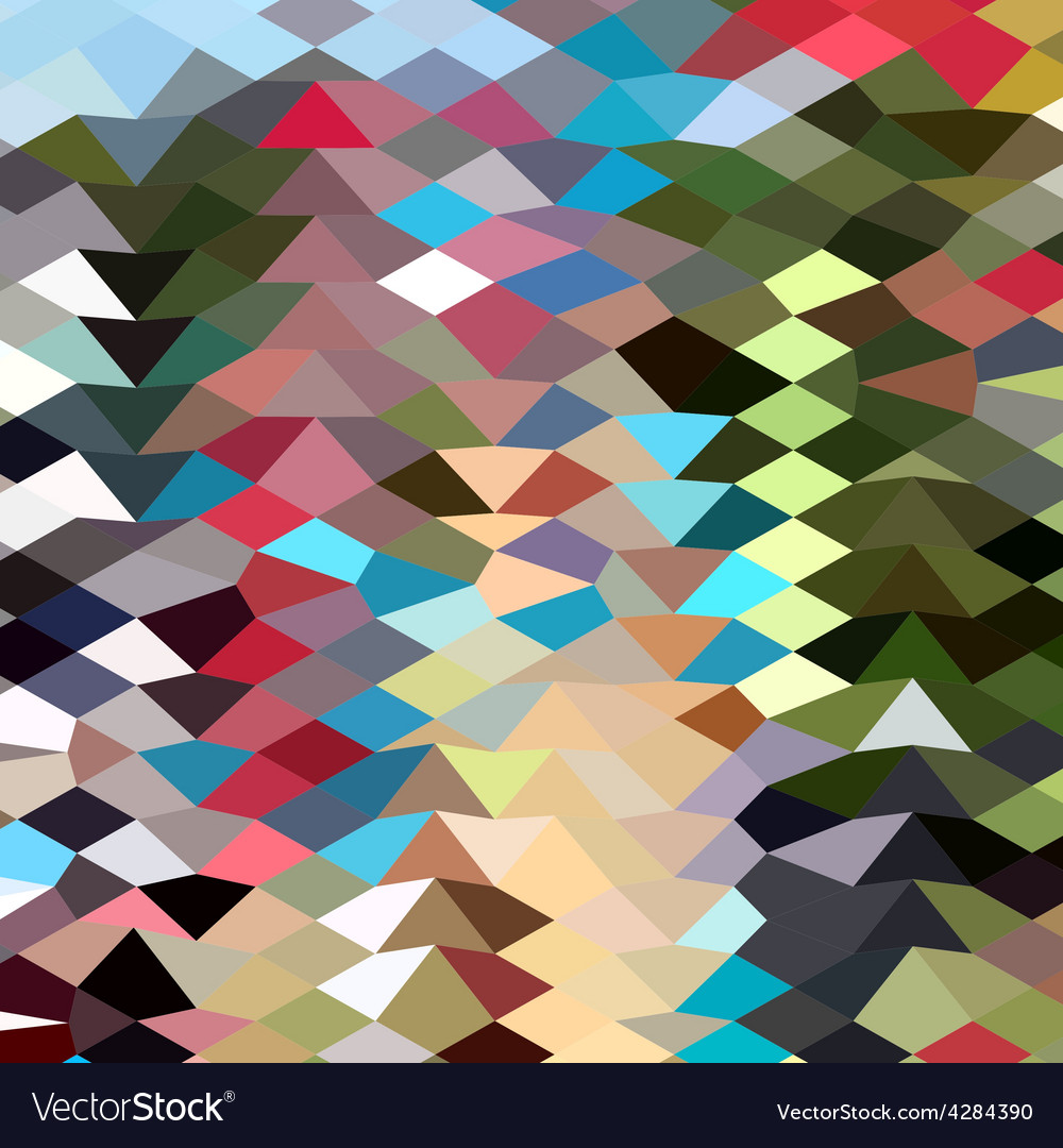 Multi color abstract low polygon background vector