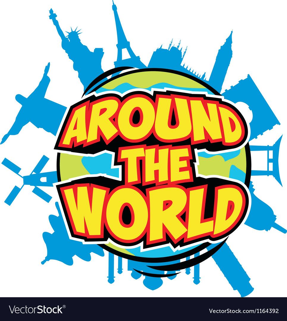 Around the world vector
