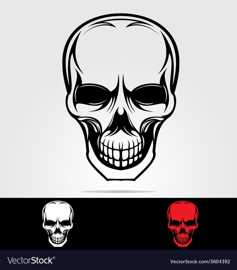 Tribal skulls vector