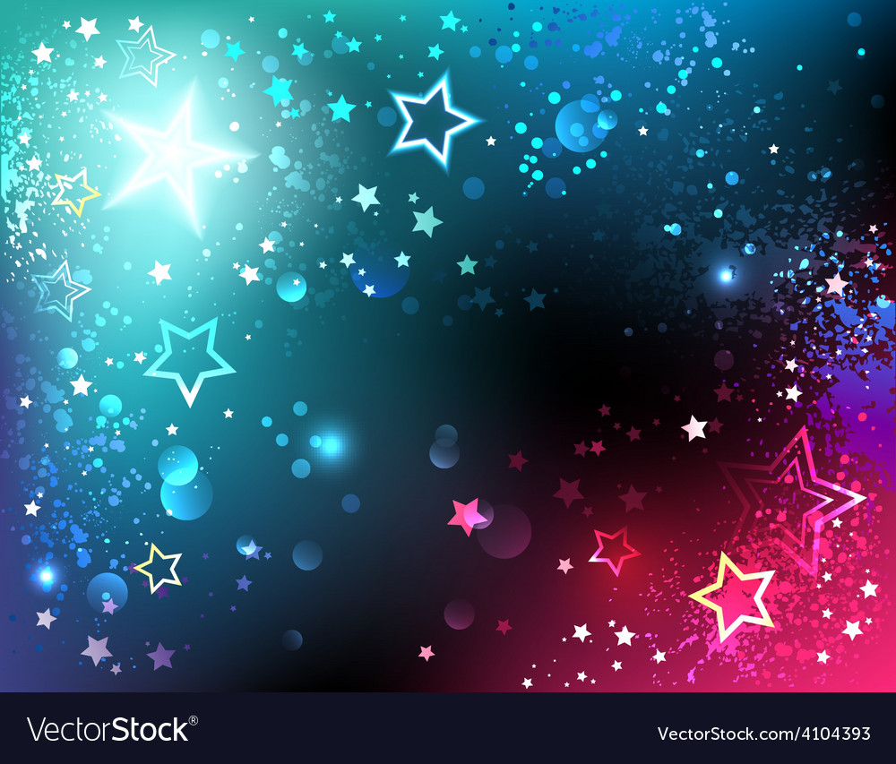 Bright background with stars vector