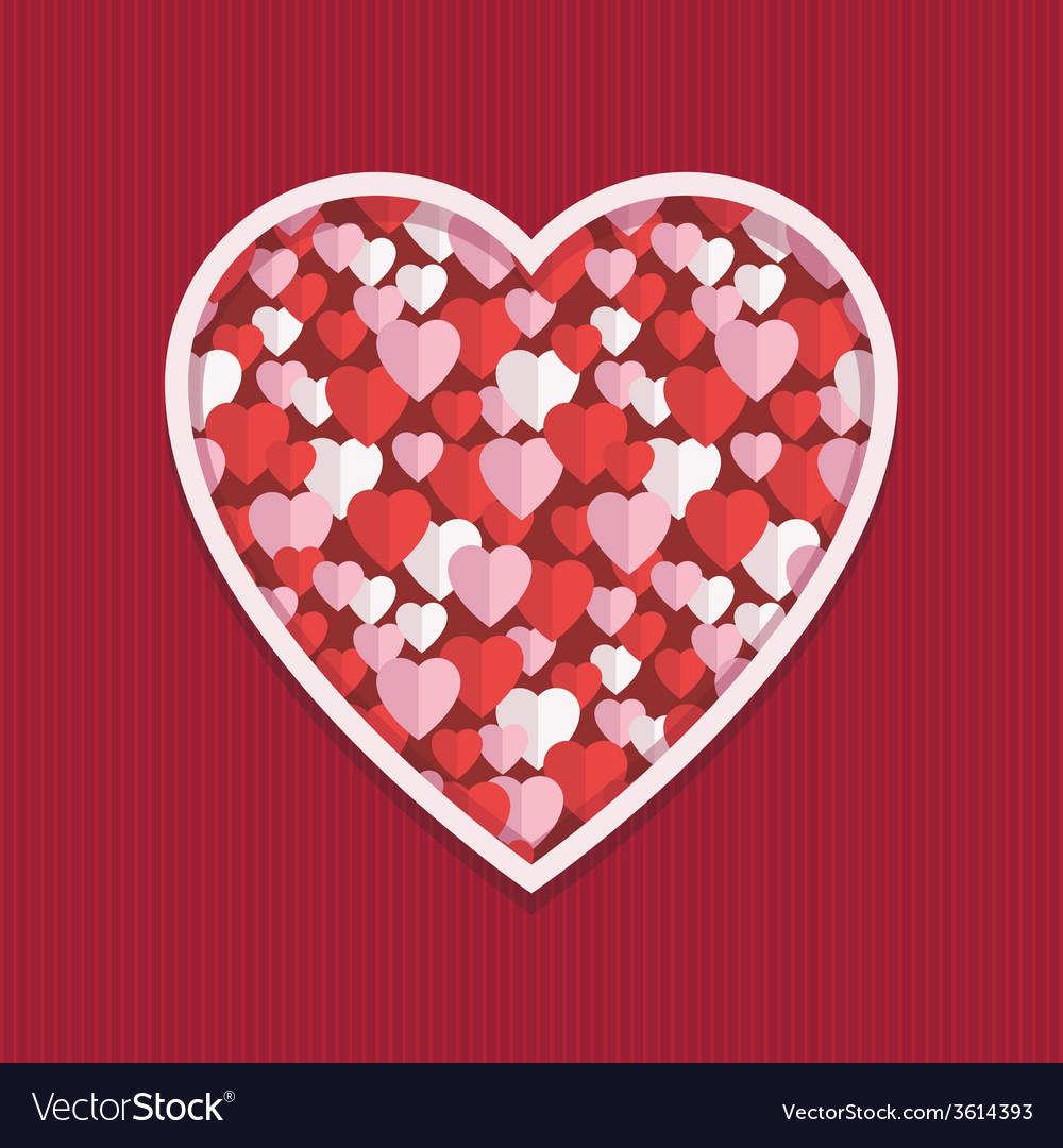 Valentine hearts decoration vector