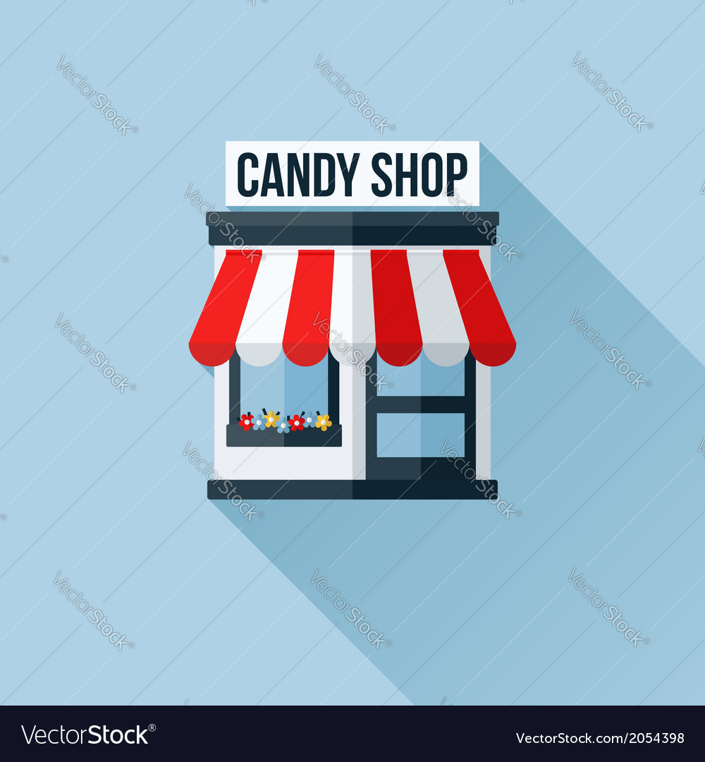 Icon of stylish shop with awning vector