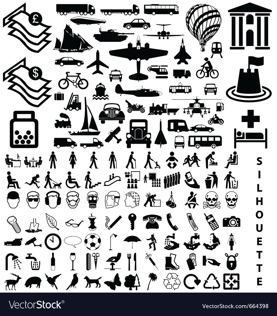 Silhouette collection vector