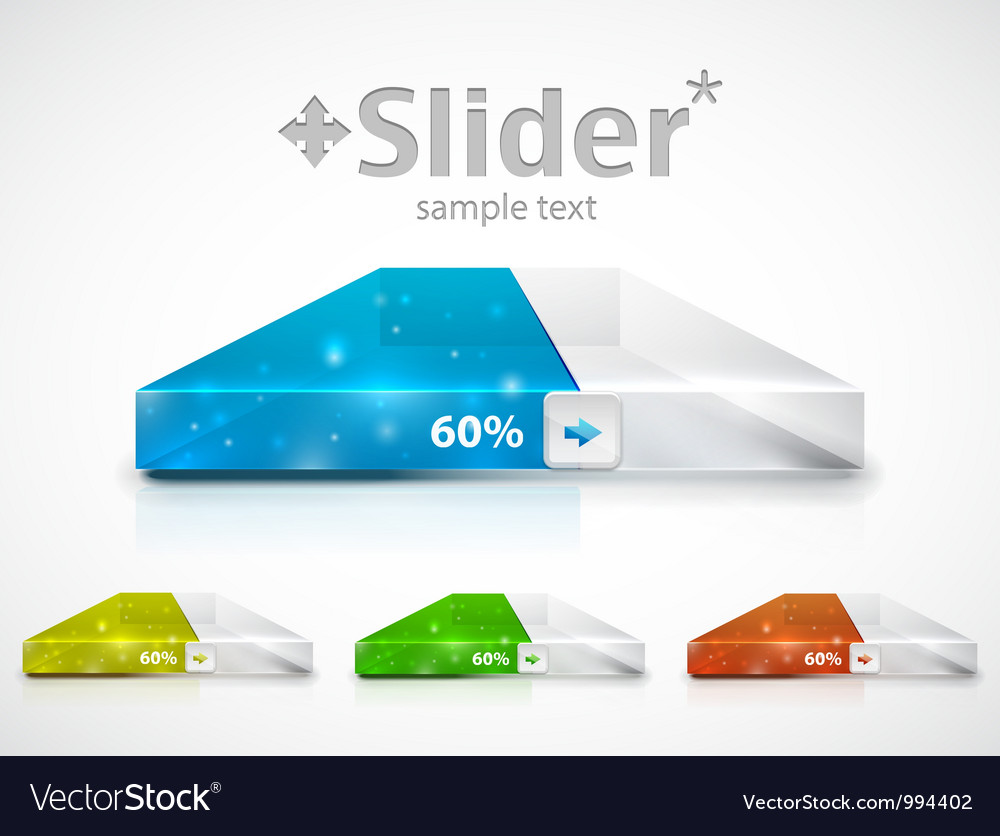Clean slider  progress bar vector