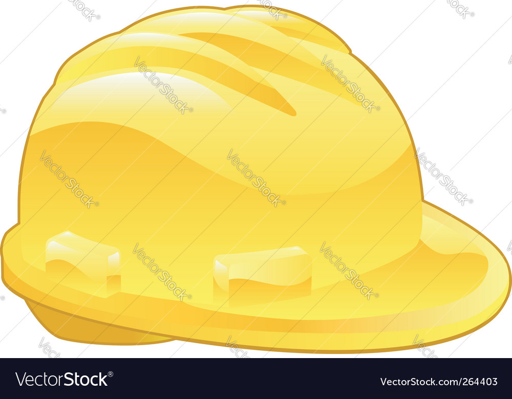 Shiny yellow hard hat illustration vector