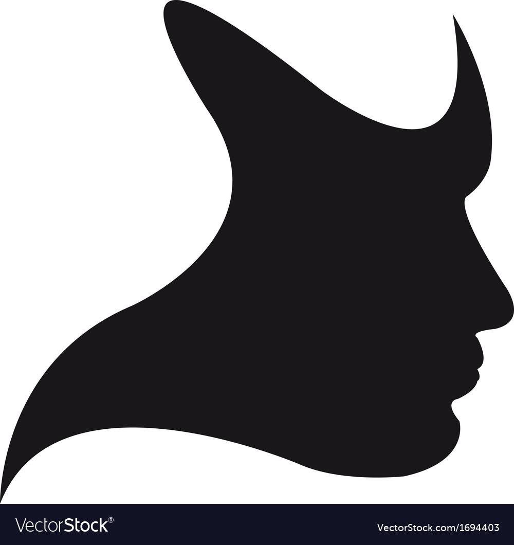 Silhouette face vector