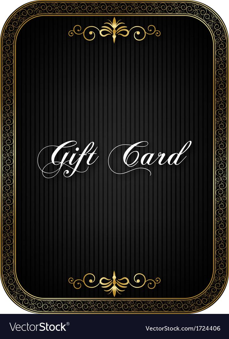 Gift card black vector
