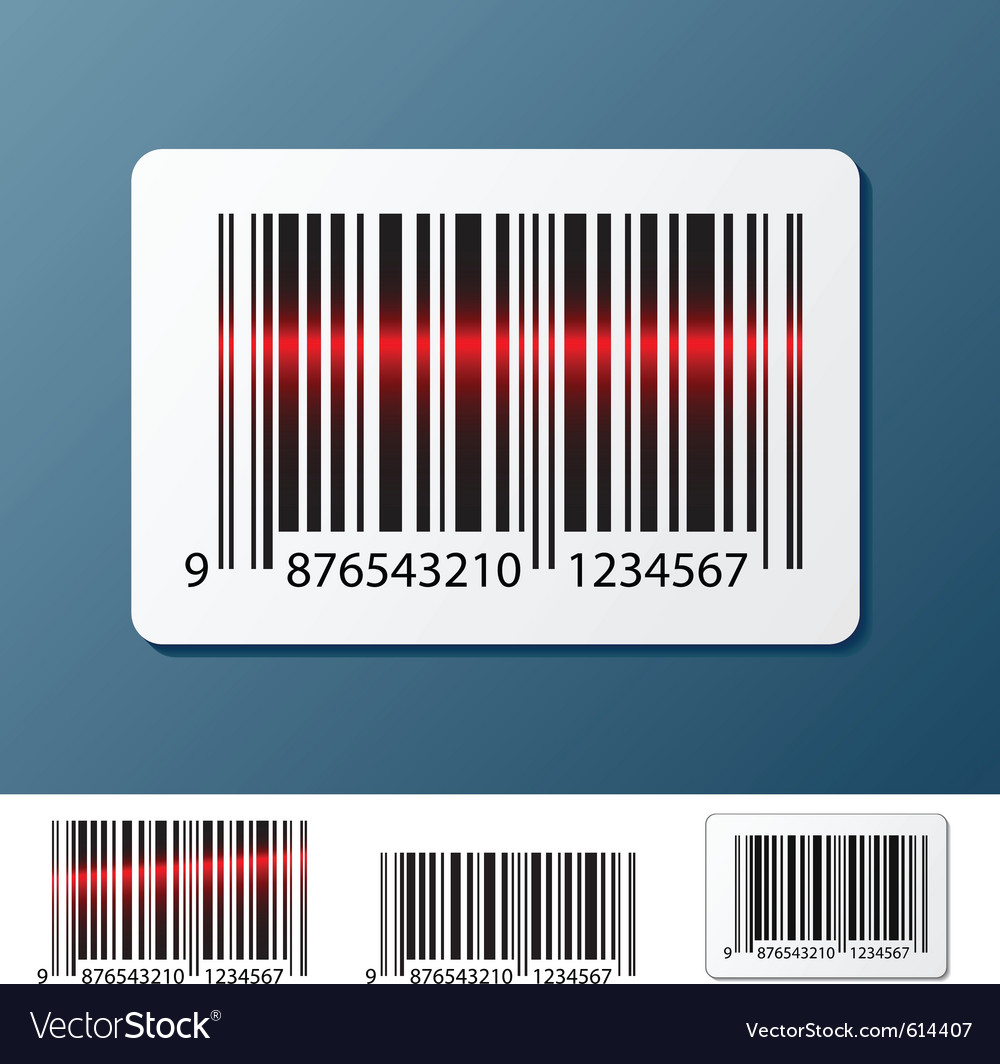 Barcode label vector