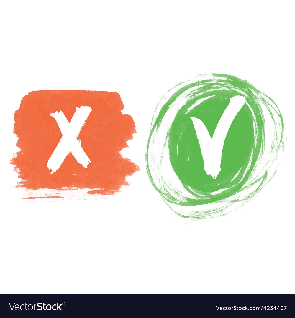 Check marks red green vector