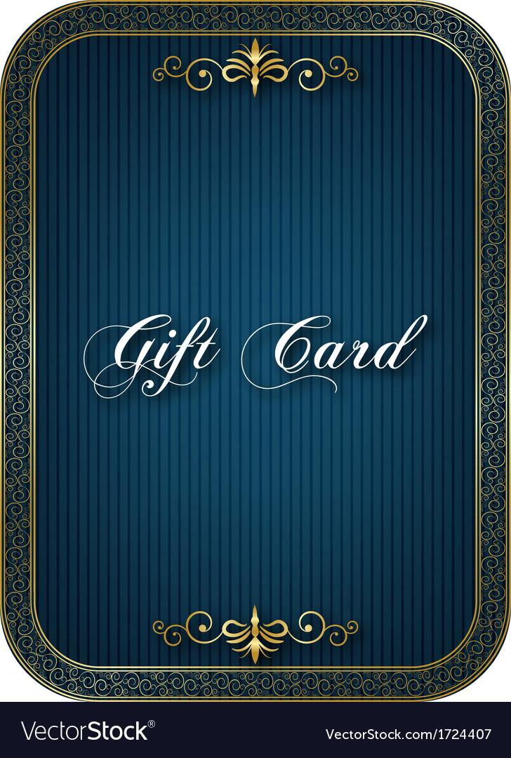 Gift card blue vector