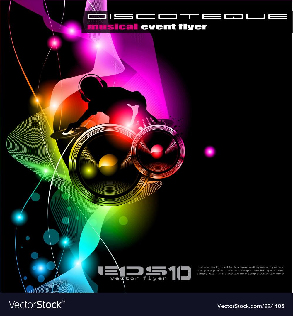 Disco event poster vector