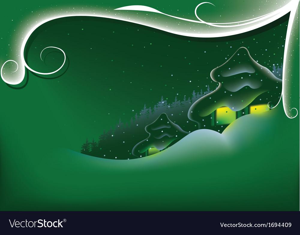 Green abstract xmas vector