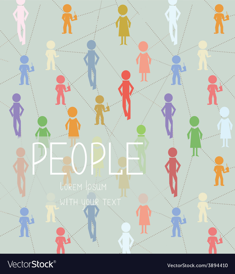 Abstract background with people social network vector