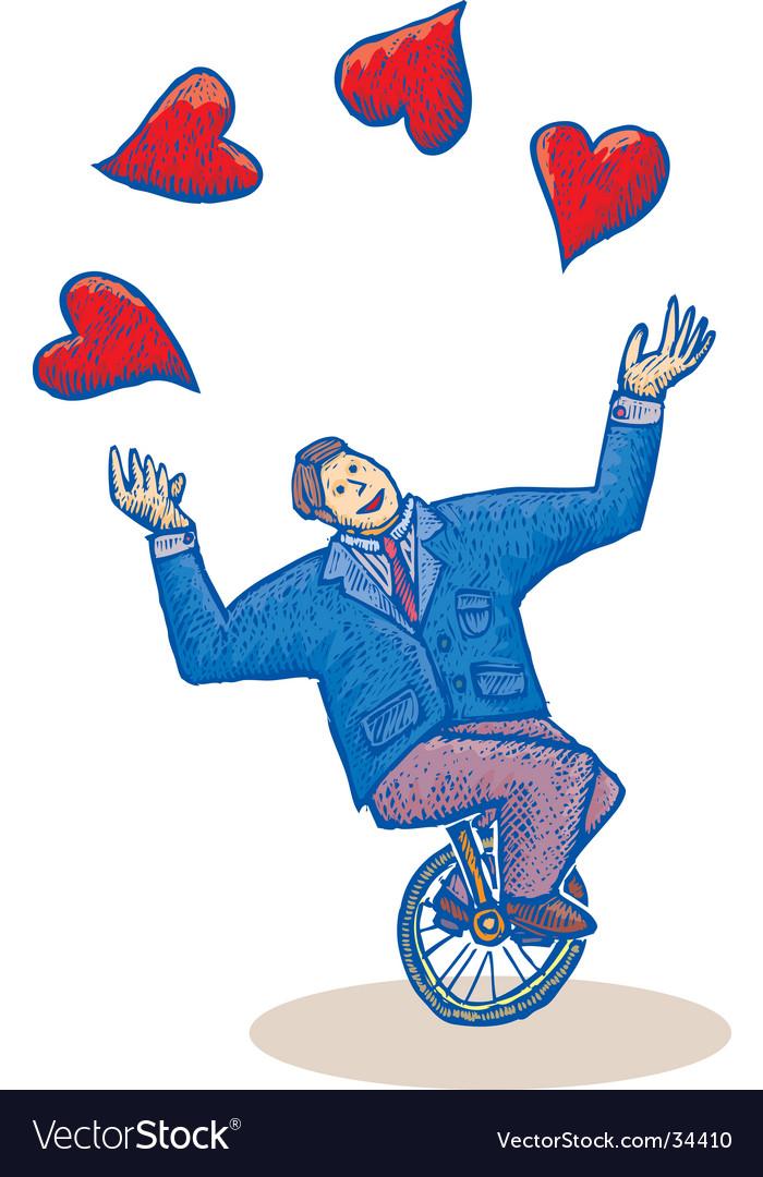 Monocycle love vector