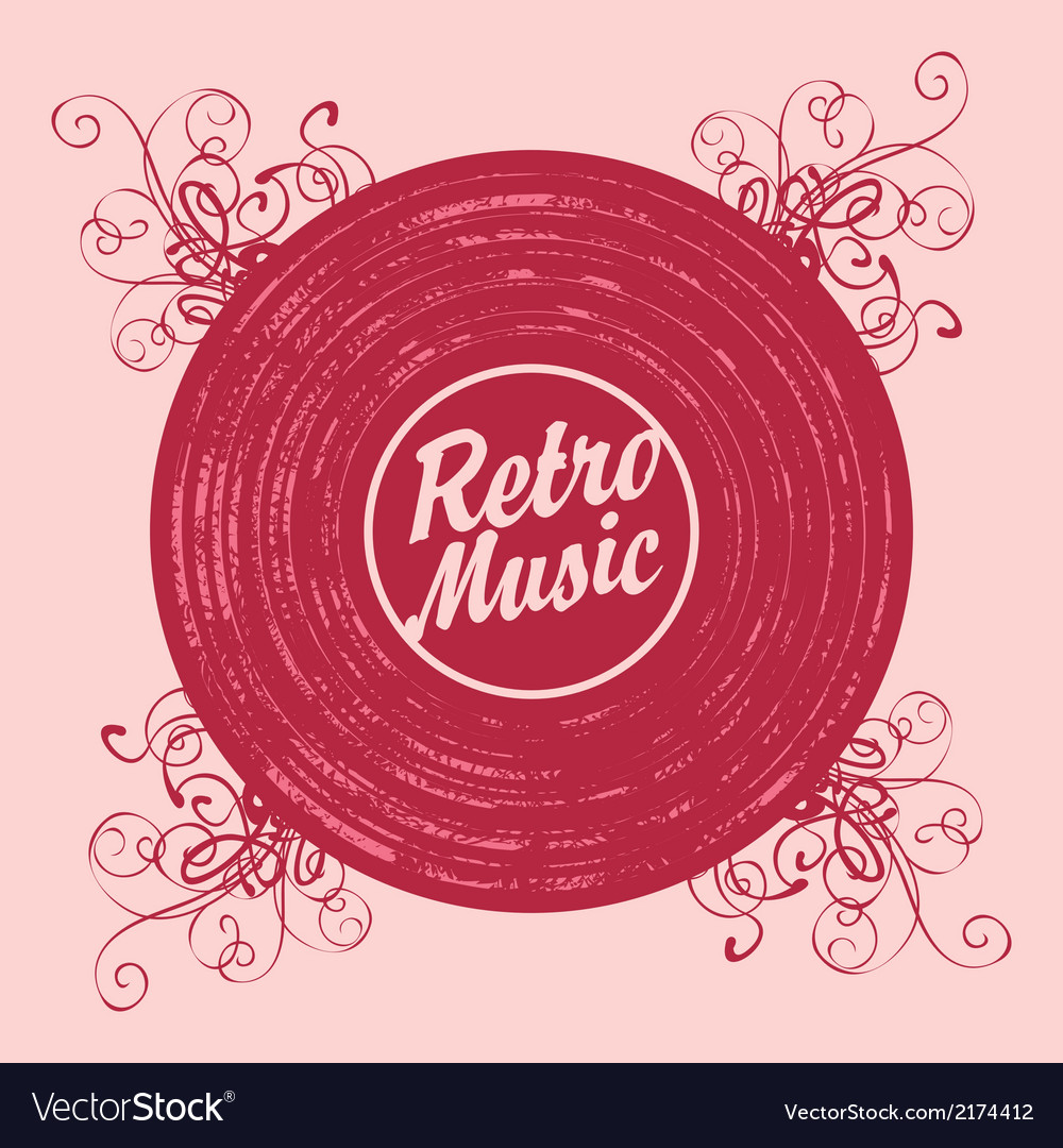 Music retro vector