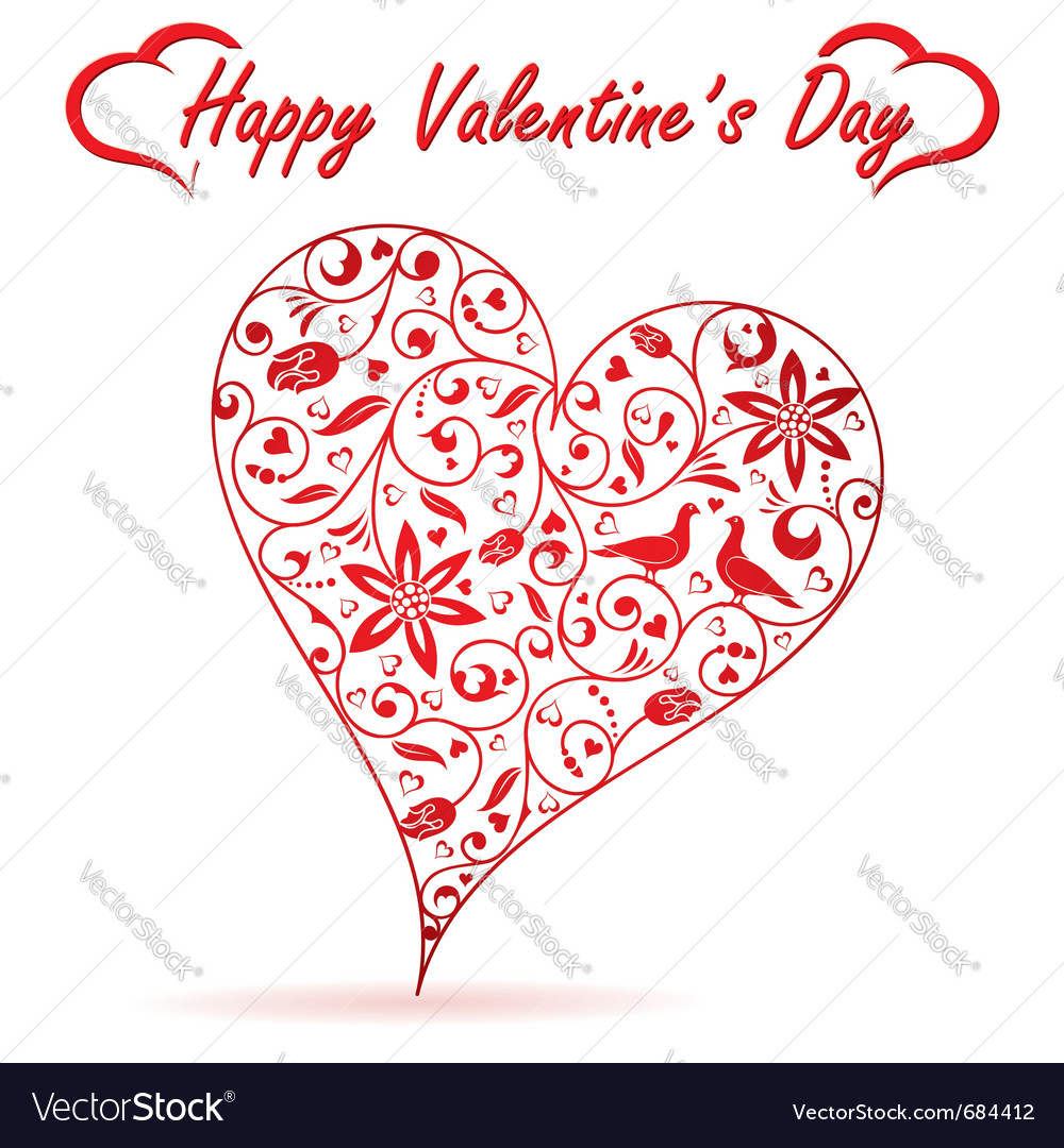 Valentines day heart vector