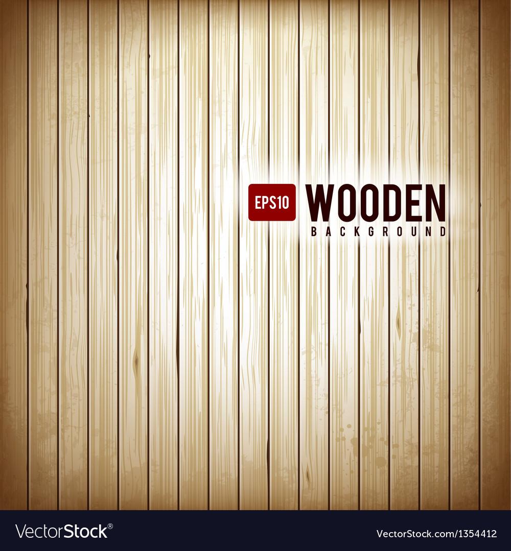 Wooden plank background vector
