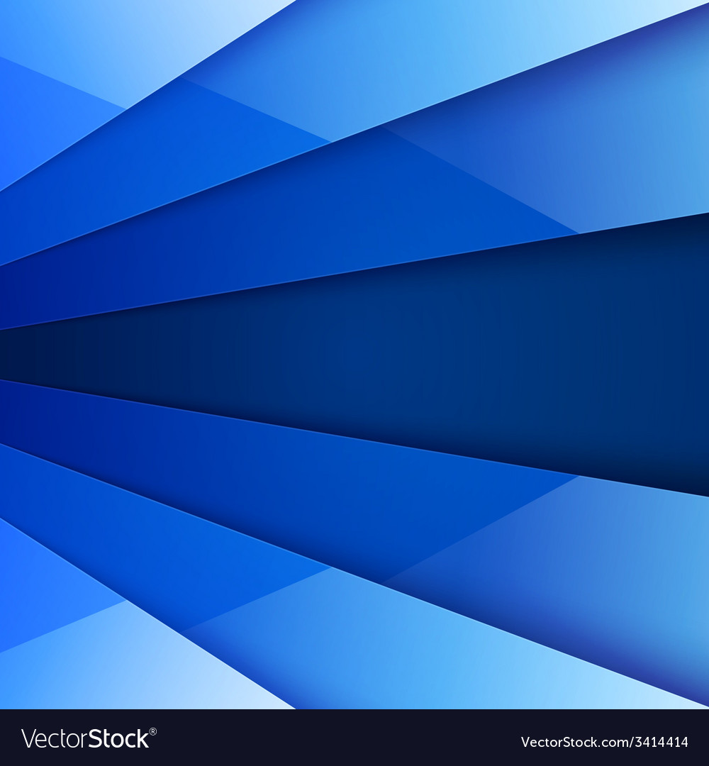 Blue shiny paper layers abstract background vector