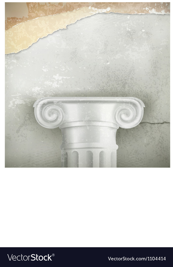 Column vintage background vector