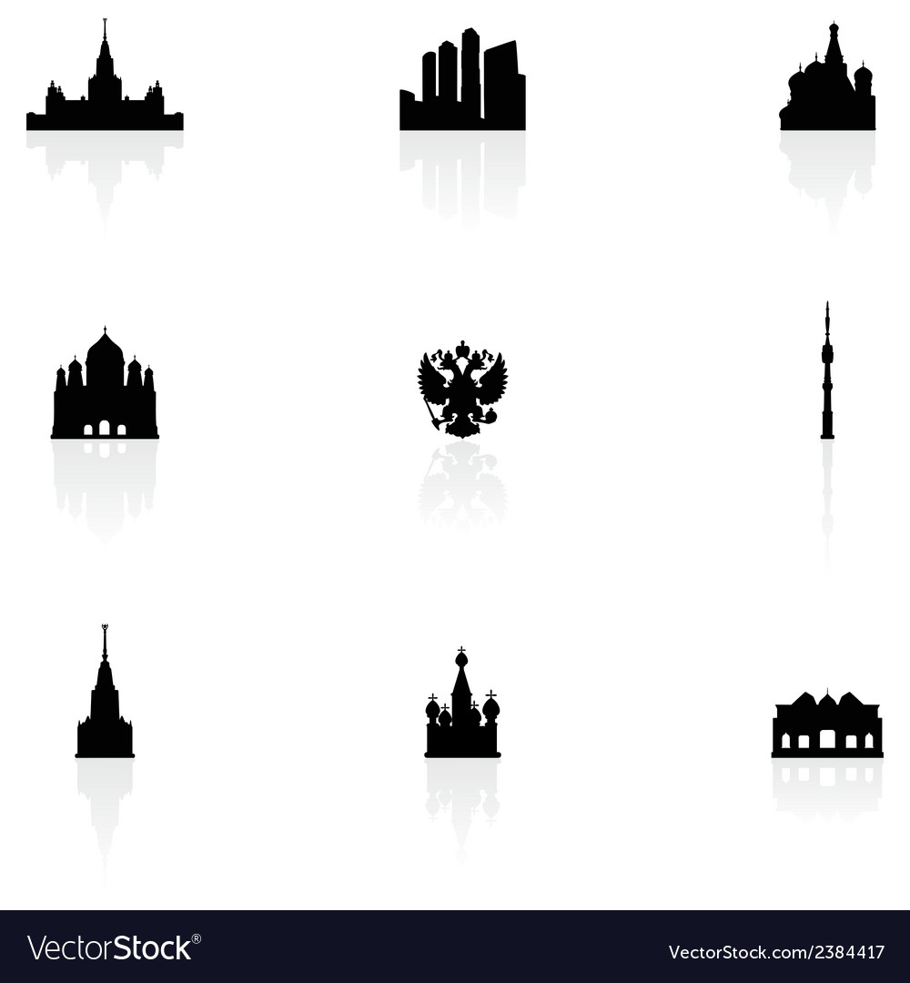 Moscow icons vector