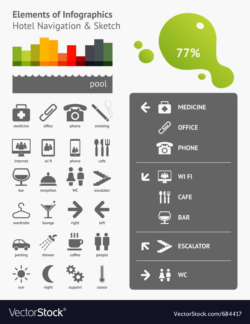 Navigation infographics vector