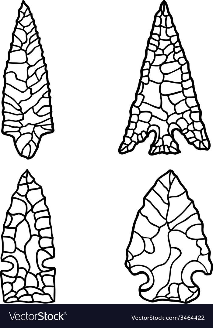 Arrowhead drawings vector