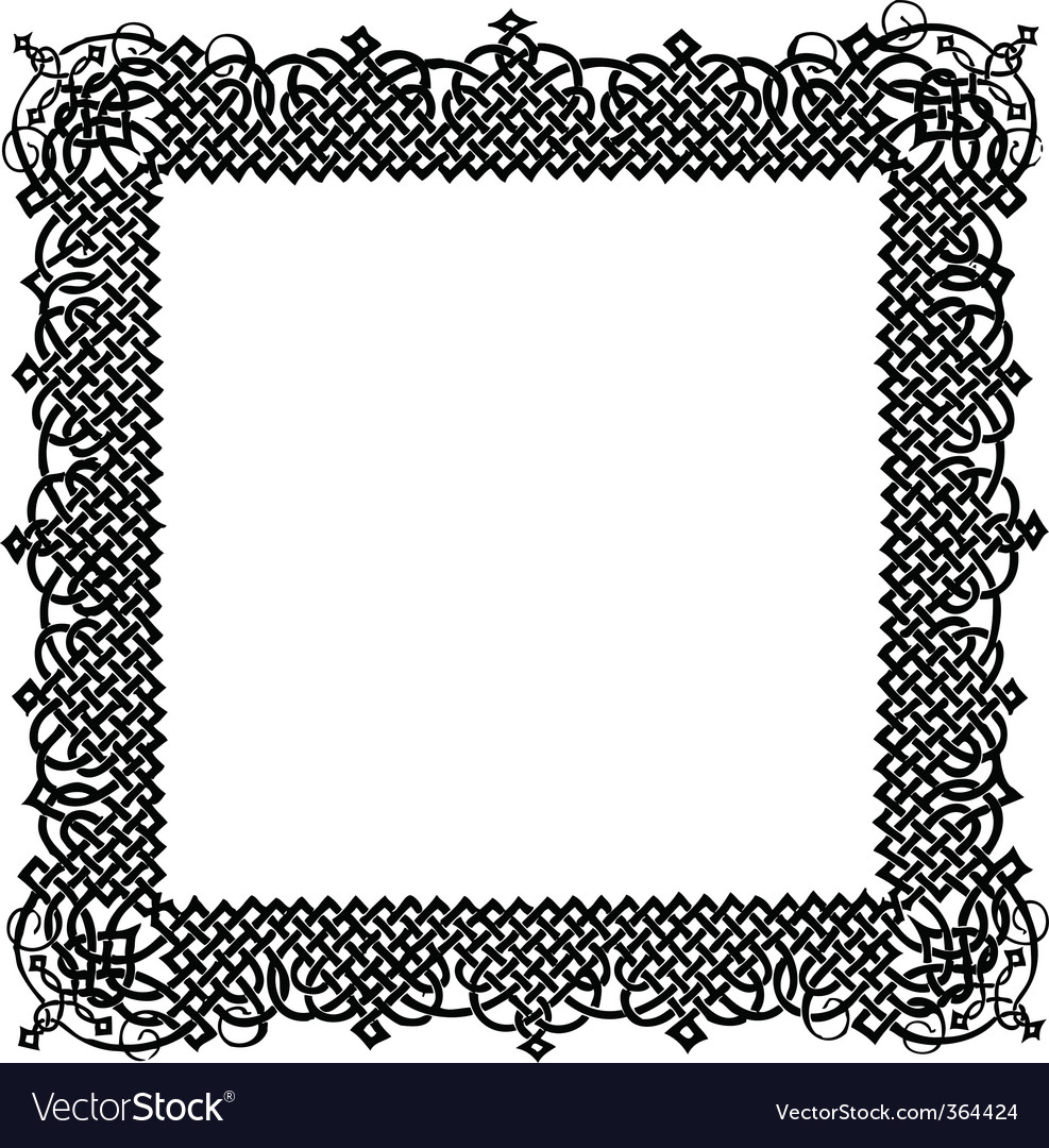 Turkish ornamental frame vector
