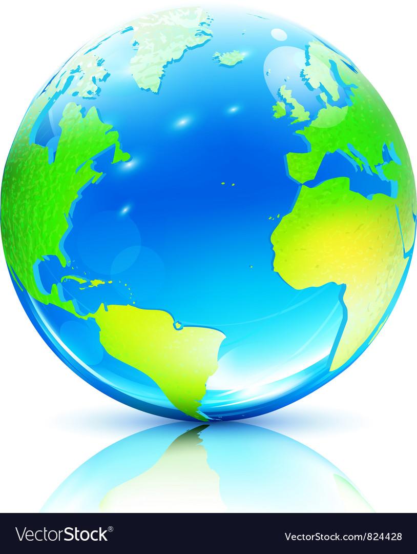Earth map globe vector