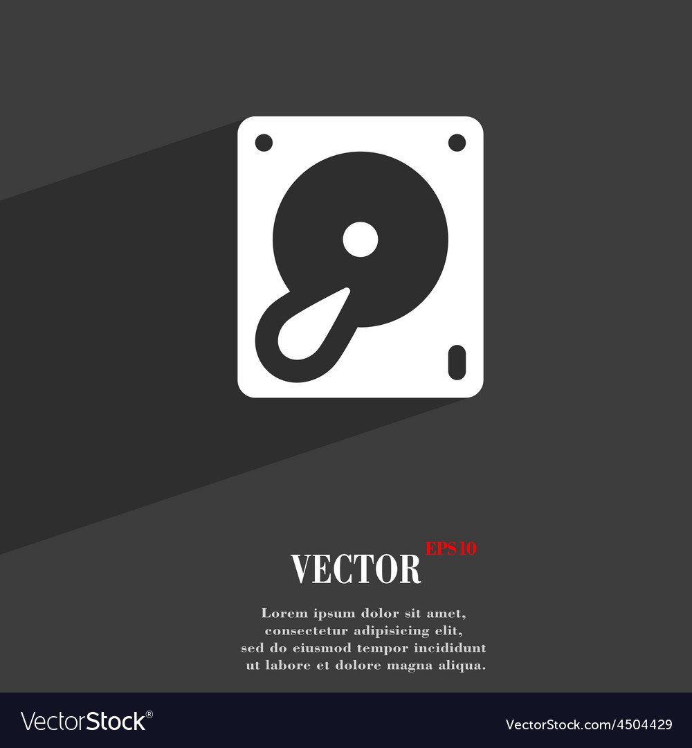 Hard disk and database icon symbol flat modern web vector