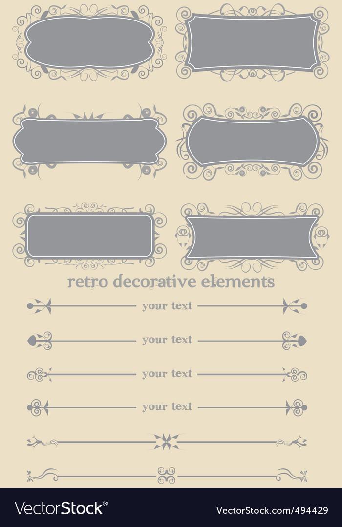 Retro decorative elements i vector