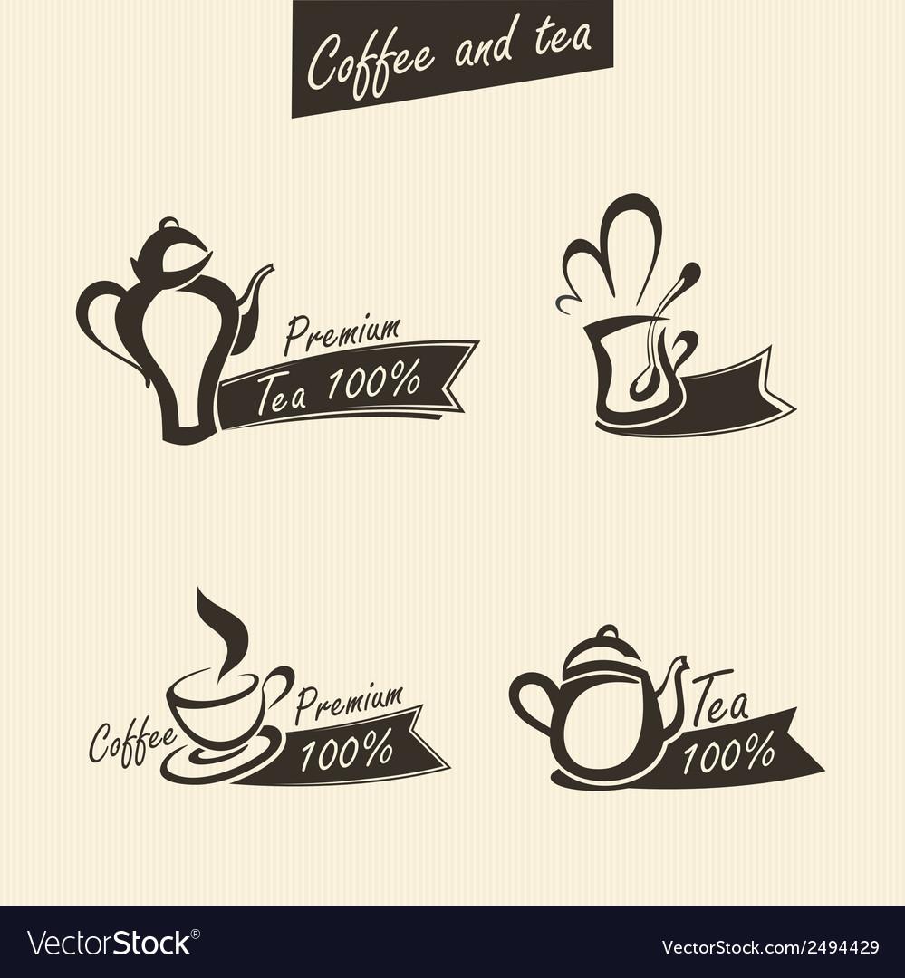 Signs of tea vector