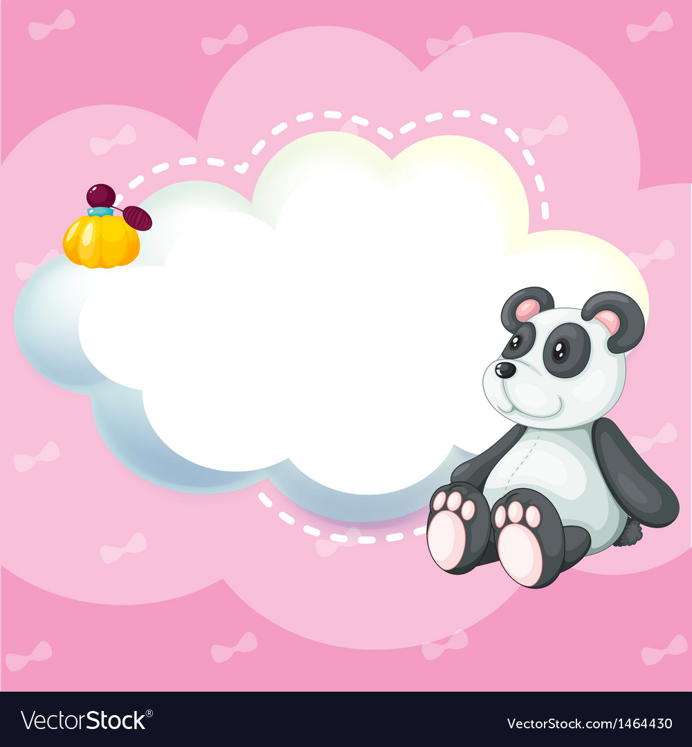 A stationery with a panda vector