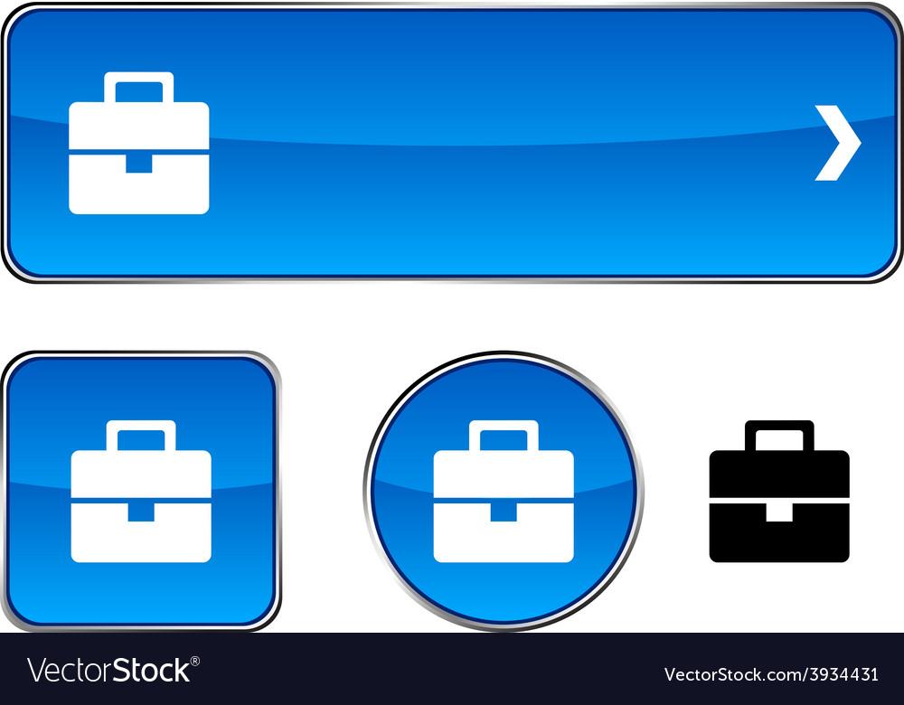 Bag button set vector