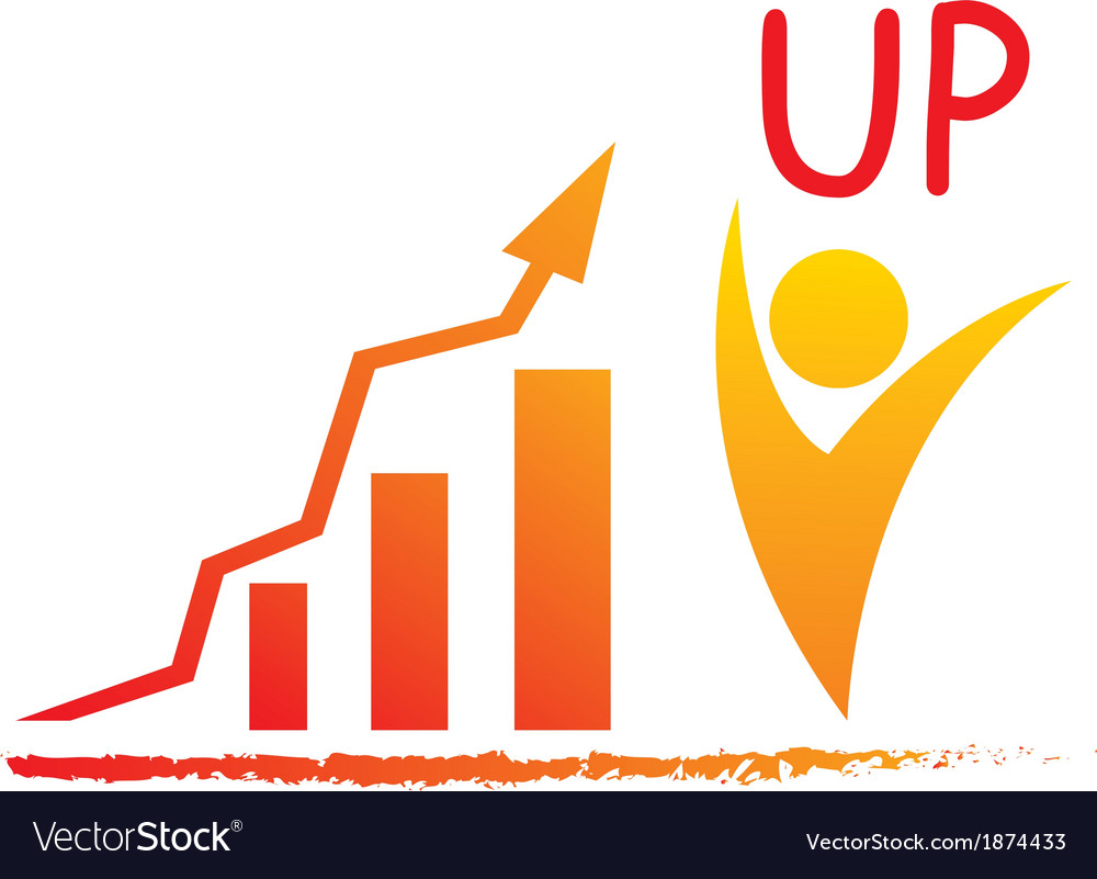 Graph up business vector
