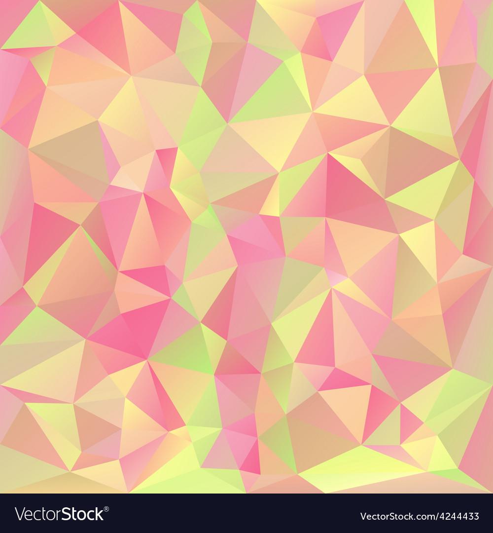 Pastel spring polygonal triangular pattern vector