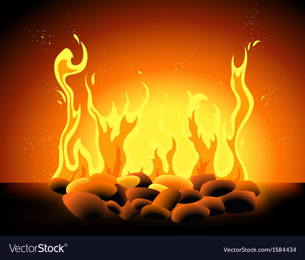 Blazing flame vector