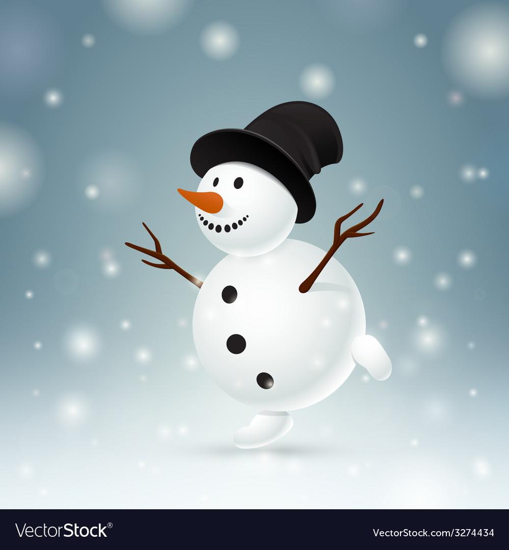 Smiley snowman vector