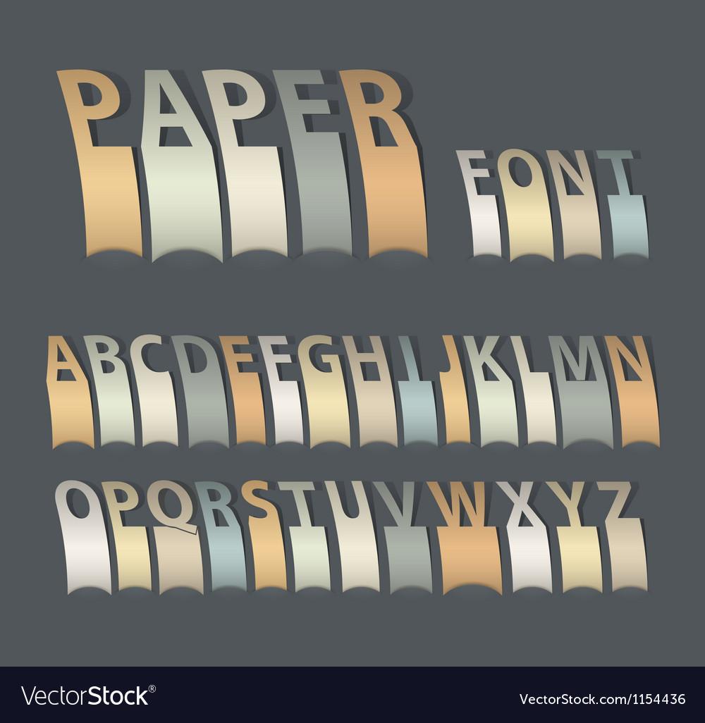 Vintage paper font vector